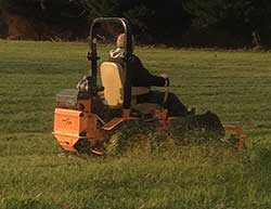 Mower Cutting Grass
